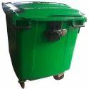 Green Wheel Barrow Dustbin 120 Ltr