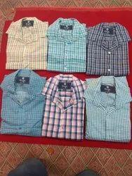 mix woolen+cotton S/M/L/Xl/Xxl Checks Shirts Mens Wear