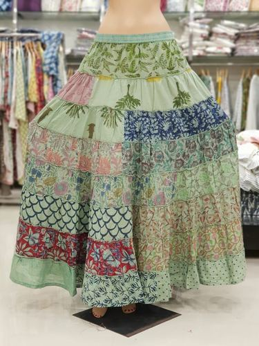 147b5ad26aa8c0 Indian Women Ethnic Handmade Patchwork Cotton Printed Long Skirt, Rs ...