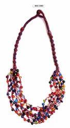 Multicolor MAE Cotton Thread Necklace