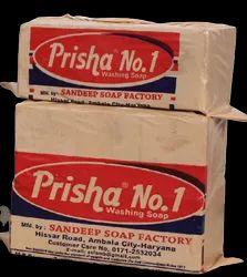 Yellow Prisha No.1 Washing Soap , Packaging Type: Polythene, Shape: Square