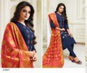 Designer Embroidery Silk Suit with Banarasi Dupatta