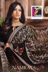 Pikaso Namrata Series 52001-52013 Stylish Party Wear Georgette Saree