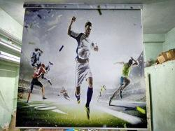 Football Playing Roller Blind
