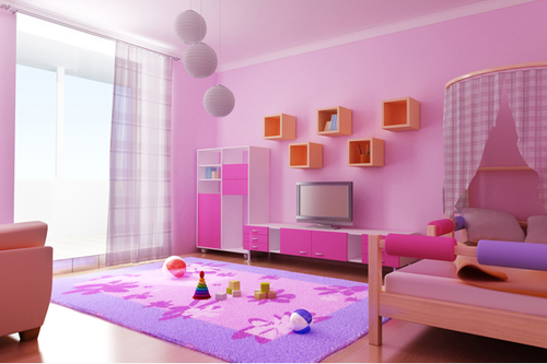 Pink Colour Paint Bedroom, home interior painting, interior wall ...