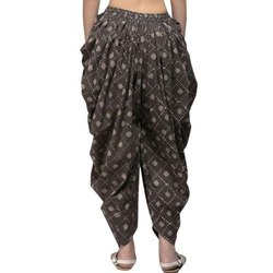 Ladies Cotton Pleated Printed Dhoti Pant