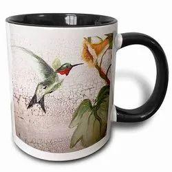 Round Ceramic Conch Graphic Multi-Color Photo Printed Mug Capacity : 330 Ml