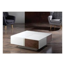 White and Brown Wooden Center Table