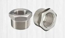 Nascent Silver Stainless Steel Socket Weld Cap Bushing Fitting 317L, for Structure Pipe