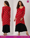 Tunic Tops Tunics For Women Calf Length Printed Kurta With A Curved Hem Embellished With Tassels