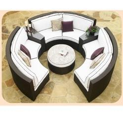 Circular Outdoor Wicker Sofa Set