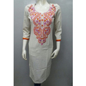 Flex Embroidery Cotton Kurtis