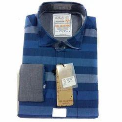 Cotton Fashionable Men's Shirt, Blue