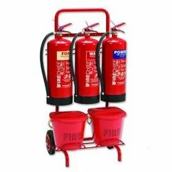 Fire Extinguisher Trolley Triple Takes 3 Fire Extinguishers Up To 200 Mm Diameter
