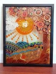 Multicolor Glass paintings, Size: 24*36 Inch