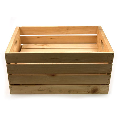 Rectangular Wooden Packing Crate