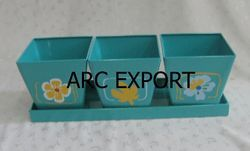 Blue Square Planters, Size: 30 X 12 X 14 Cm