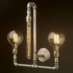 Plumbing Pipe Industrial Wall Lamp