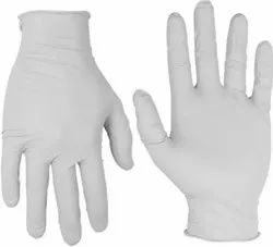 Non-Sterile White or Blue Powdered, Examination Gloves, Latex, For Hospital, Packaging Type: Box