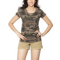 R-Neck Walnut Clifton Womens Army T-Shirt