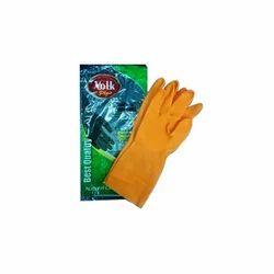 Flocklined And Latex Unisex Kitchen Gloves
