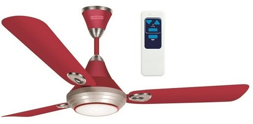 Lumaire 1200 mm Ceiling Fan With LED Light, Wine Red