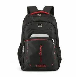 Black Polyester Unisex Stylish School Bag
