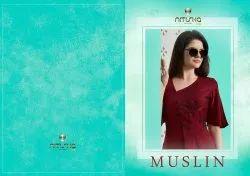 Nitisha Nx Muslin Series 2001-2010 Stylish Party Wear Muslin Cotton Top