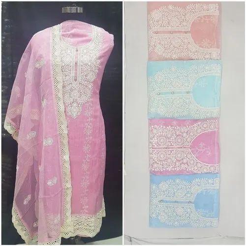 Net Cotton Casual Unstitched Salwar Suit