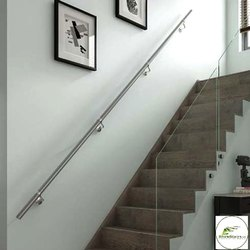 Round Stairs SS Handrail, Mounting Type: Wall