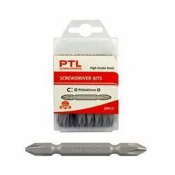 PTL Screw Driver Bits Set (20 Pcs) High Grade Steel Size Ph2 x 65mm