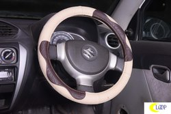 Baleno Beige Car Steering Cover