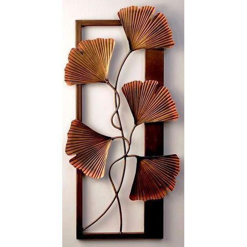 ginkgo leaf panel wall decor iron handicraft bhartiya hastshilp