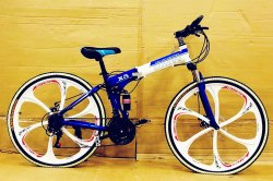 BMW Blue And White Folding Cycle