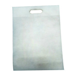 White D Cut Non Woven Bag