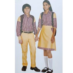 Summer Check Dress Land School Uniform Cotton Skirt, Age Group: 10 - 18