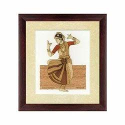 Pushpam Arts Acrylic Bharatnatyam Painting