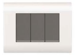 Curve Series White Switch Plate