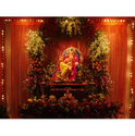 Gnapati Decoration Ganpati Decoration With Fresh Artificial Flowers Ecommerce Shop Online Business From Mumbai