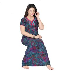 Full Length Cotton Ladies Designer Nighty