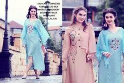 Rachna Fluid Silk Pattern Cut Work Cape Town Catalog Kurti For Women 5