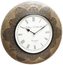 Full Brass Fitted Wall Clock