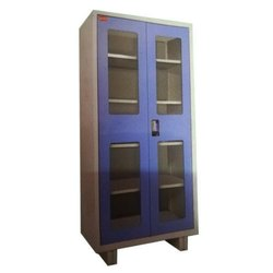 Ergonna 5 Shelves Glass Door Office Almirah