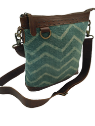 Canvas Leather Sling Bag