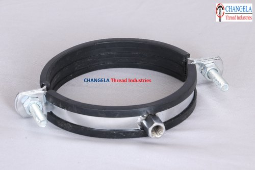 Variable Round Bar Pipe Support Split Clamps EPDM Rubber Lining