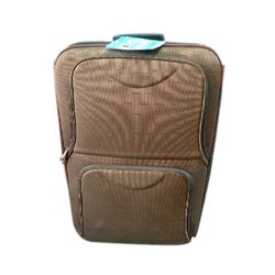 Plain Polyester Brown Travel Trolley Bag, for Luggage