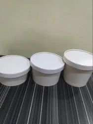 Round paper container with Lid