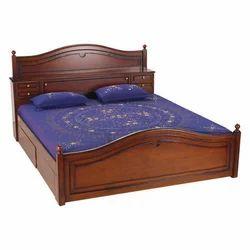 Brown Teak Wood Double Bed Dimension 200 X 110 X 200 Cm Rs 24000