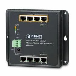 WGS-804HPT Industrial Wall-Mount Managed Switch