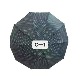Polyester C-1 Long Auto Umbrella, For Rain, Size: 14 Inch